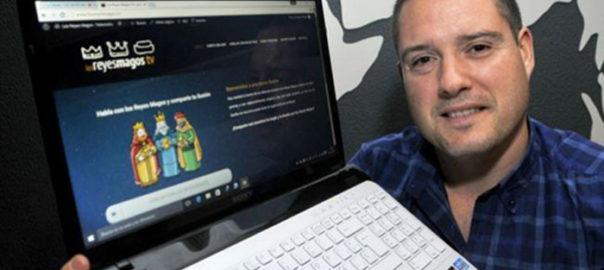 """Los Reyes Magos se apuntan a la moda """"Skype"""""""