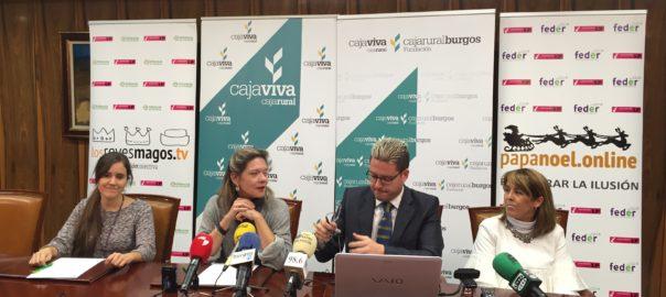 CAJAVIVA OFRECE A LOS NIÑOS BURGALESES COMUNICARSE CON PAPÁ NOEL Y LOS REYES MAGOS MEDIANTE VIDEOCONFERENCI