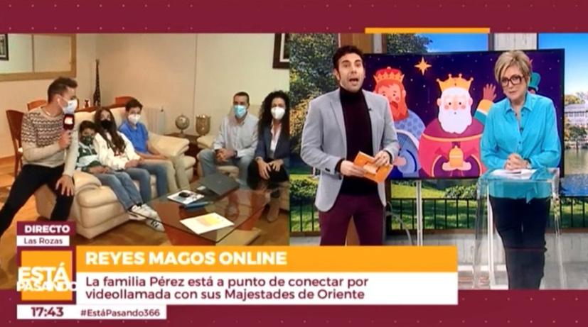 LOS REYES MAGOS TV Y TELEMADRID LLEGAN A LAS ROZAS