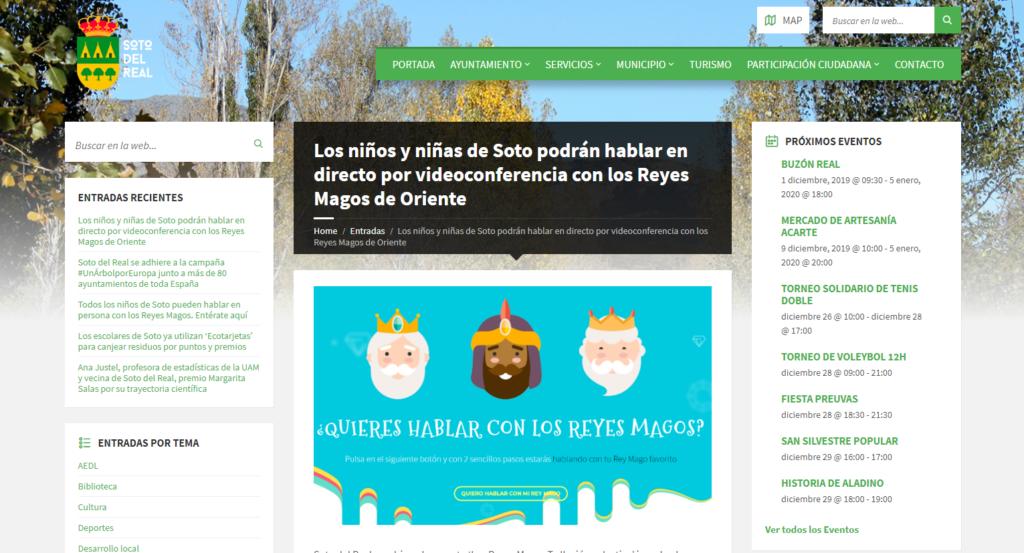 LOS NIÑOS DE SOTO DEL REAL HABLAN POR VIDEOCONFERENCIA CON LOS REYES MAGOS